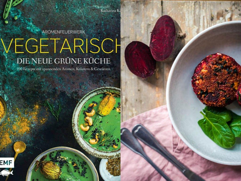 Outdoor Küche Vegetarisch : Rote bete quinoa bratlinge mit minz zitronen joghurt vegetarisch